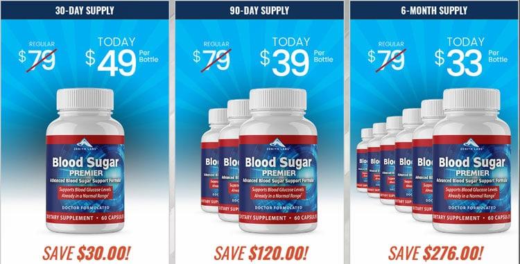 Blood Sugar Premier Price