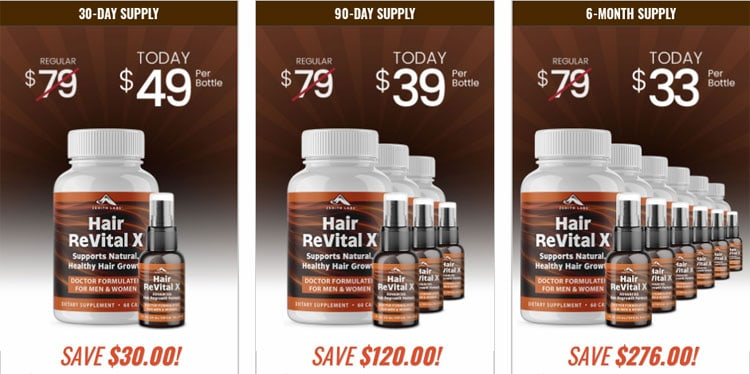 Hair Revital X Price
