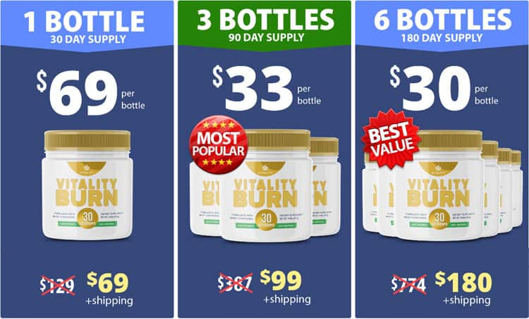 Vitality Burn Supplement Price