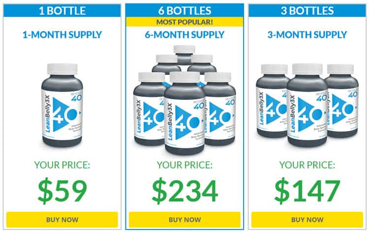 Lean Belly 3X Price