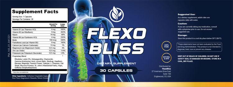 FlexoBliss-Supplement-Facts