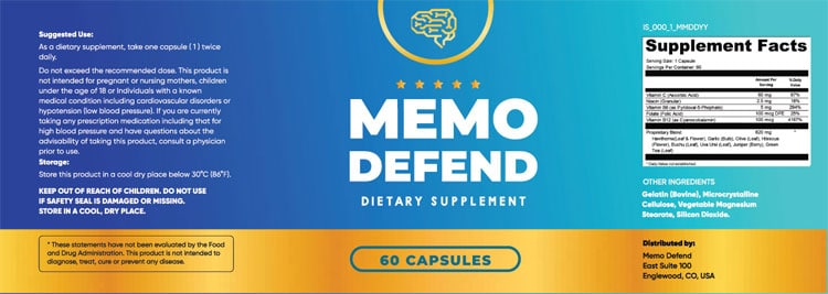 MemoDefend-Supplement-Facts