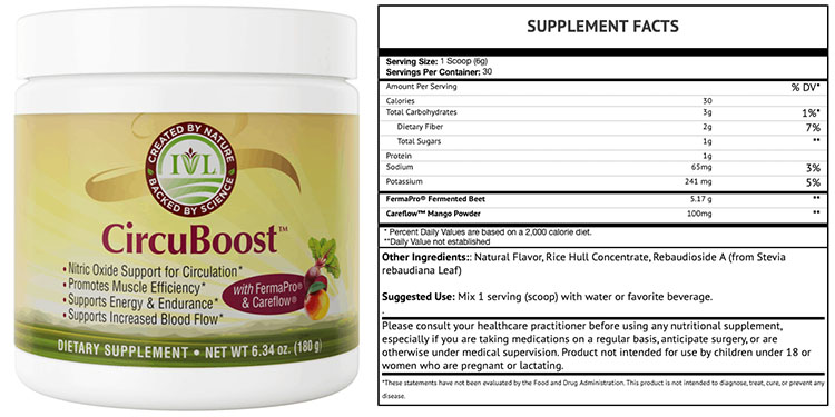 CircuBoost Supplement Facts